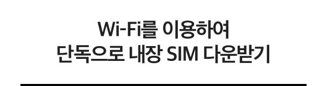 Wi-Fi를 이용하여 단독으로 내장 SIM 다운받기